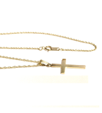 Yellow Gold Simple Cross and Chain