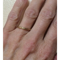 Gold Carved Thin Stack Band
