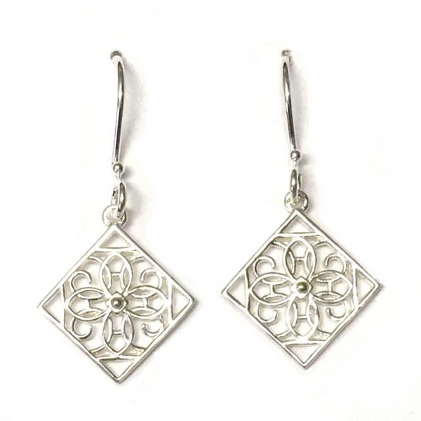 Southern Gates Sterling Terrace Gate Dangle Earrings