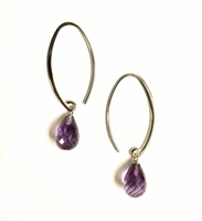 Sterling Silver Amethyst Drop Dangle Earring