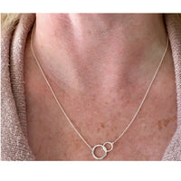 Sterling Linked Circles Pendant