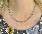 Tanzanite and Vermeil Beaded Chain Necklace