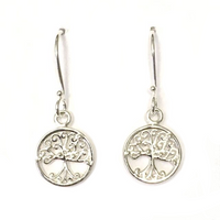 Southern Gates Sterling Small Oak Tree Earrings