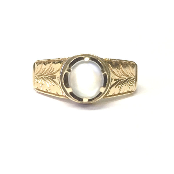 Preowned Yellow Gold Moonstone Ring