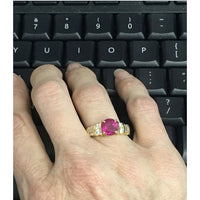 Preowned Yellow Gold Ruby and Diamond Ring