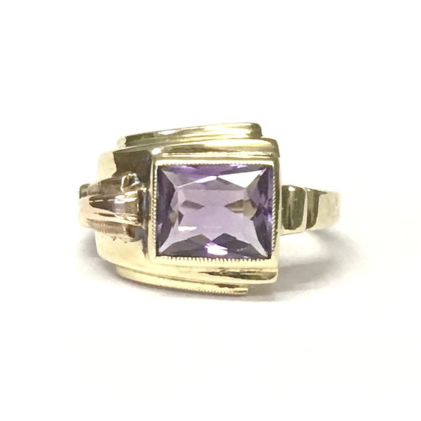 Preowned Amethyst Retro Ring