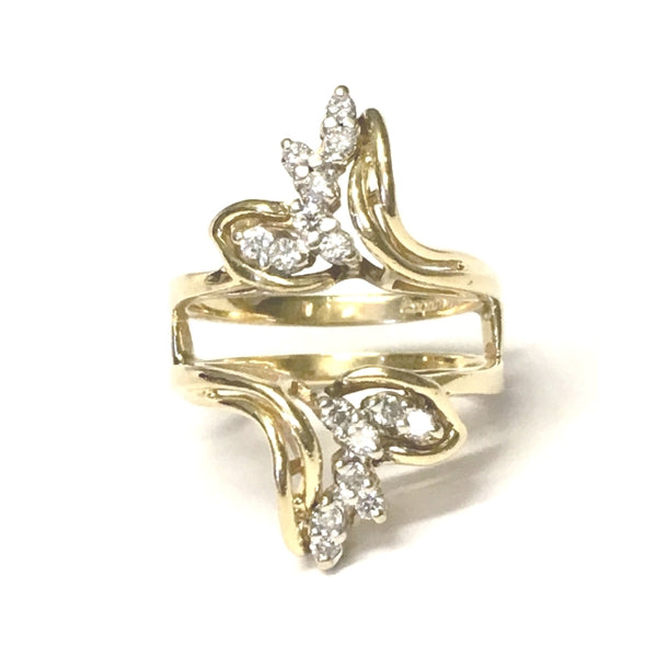 Preowned Yellow Gold Diamond Insert Ring