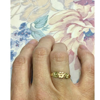Preowned Yellow and Rose Gold Flower Ring