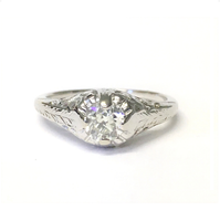 Preowned White Gold Transition Cut Diamond Ring