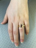 Preowned Yellow Gold and Cabochon Garnet Ring