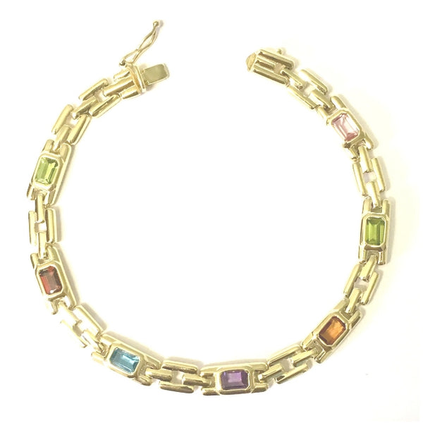 Preowned Yellow Gold Multi-Stone Bracelet