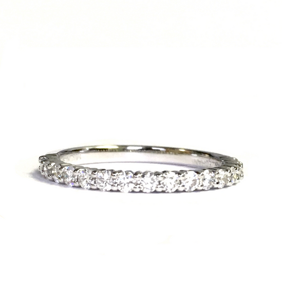 White Gold & Diamond Wedding Band 0.45ct