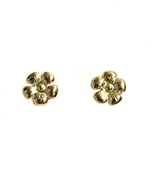 Yellow Gold Daisy Stud Earrings