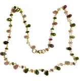 Tourmaline and Vermeil Beaded Chain Necklace