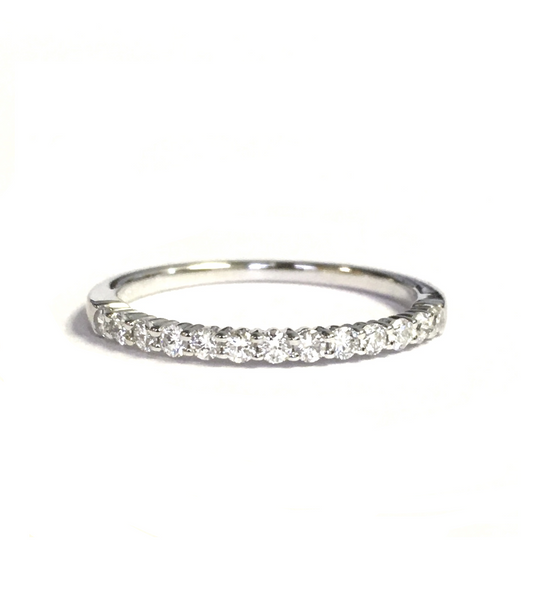 White Gold and Diamond Wedding Band 0.27ct