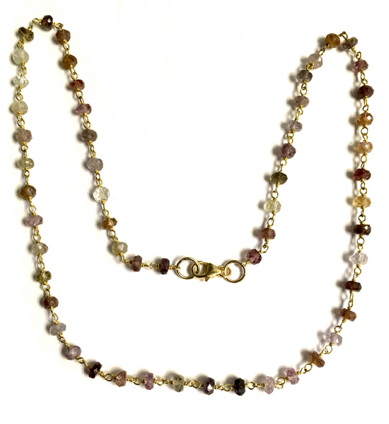 Spinel and Vermeil Beaded Chain Necklace