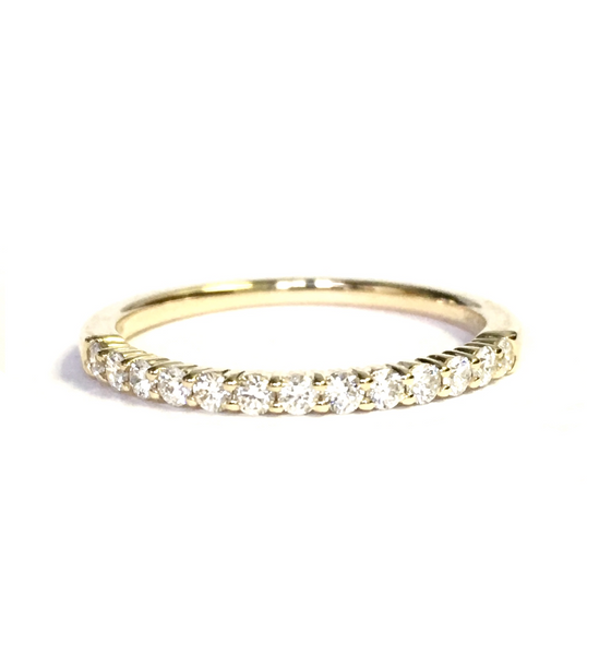 Yellow Gold & Diamond Wedding Band 0.27ct