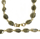 Labradorite and Vermeil Beaded Chain Necklace