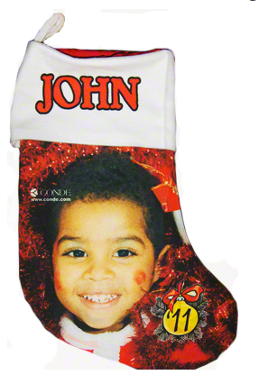 "13.5"" Gaming Cloth Red Lined Holiday Stocking"