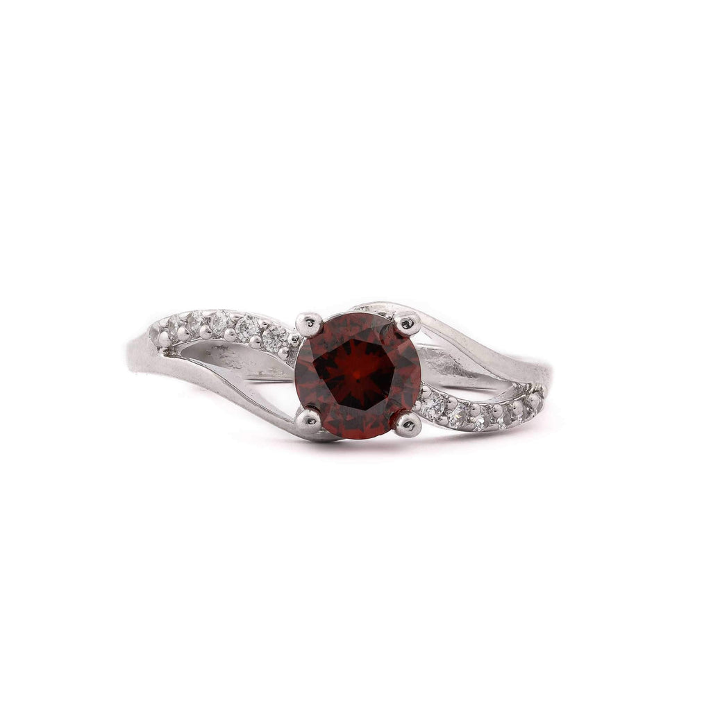Red Onyx  Stone Sterling Silver Ring
