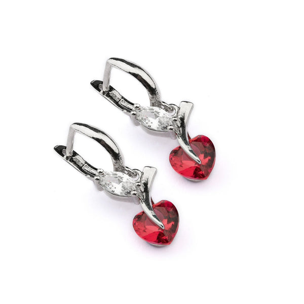 Rose Heart Sterling Silver Earring