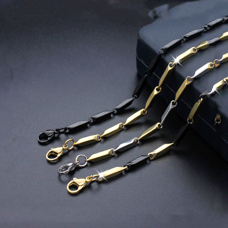 Fashion Titanium Steel Melon Seeds Stainless Steel Necklace