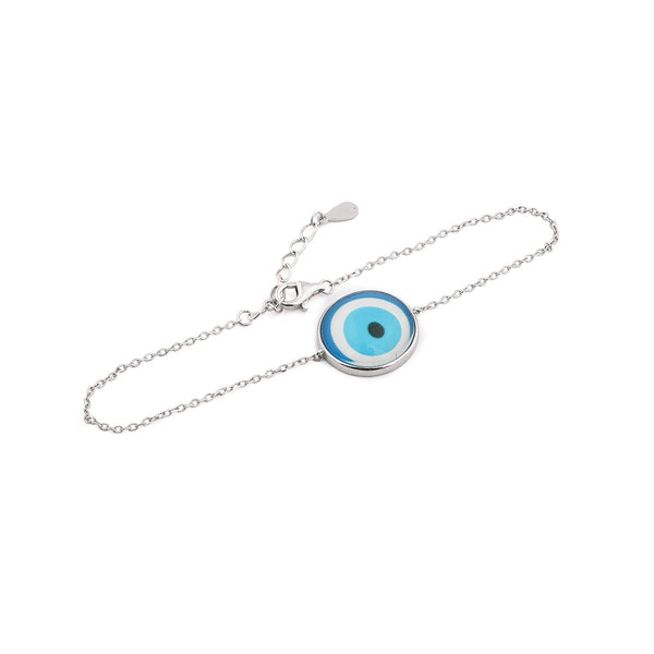 Turkish Evil Eye Sterling Silver Bracelet