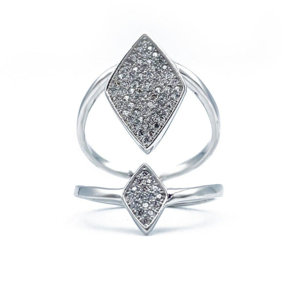 Diamond Shape Adjustable Ring