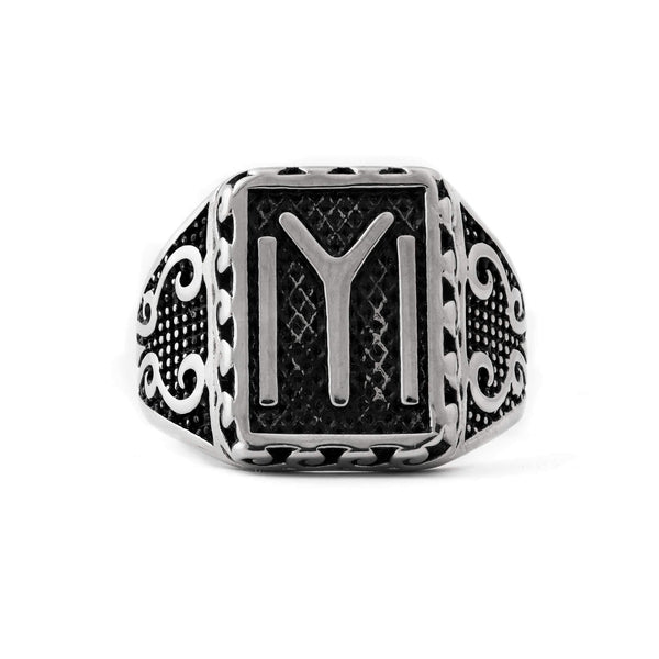 Ertugrul's Kayi Tribe Symbol Sterling Silver Mens Ring