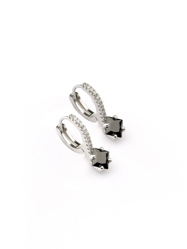 Diamond Shape Sterling Silver Earring