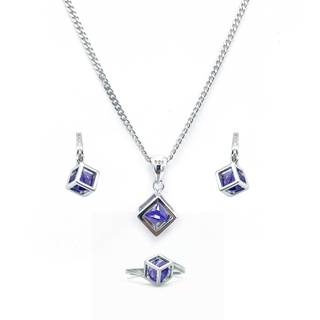 Lavender Stone Trapped Cube Set