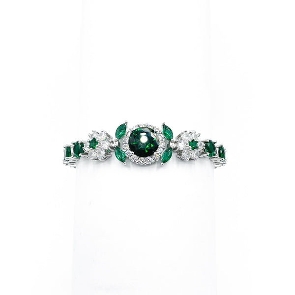 Bangle Green Cubic Zirconia
