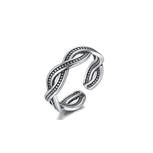 Thai Silver Adjustable Hollow Band