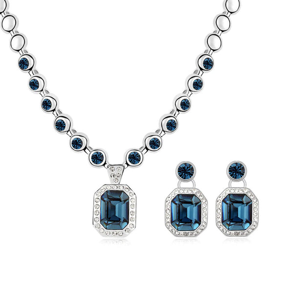 Maxi Necklace Piercing Earrings Crystals From Swarovski Party Accessories