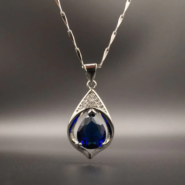 Water Drop Shape Sapphire Zircon Gemstone Pendant