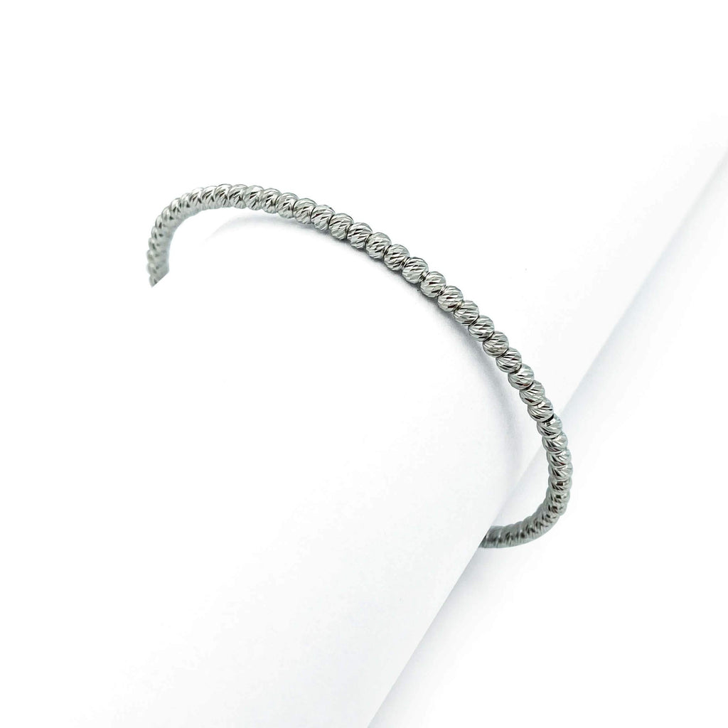 Silver Bubble Bangle For Women