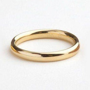 Golden Sterling Silver Band