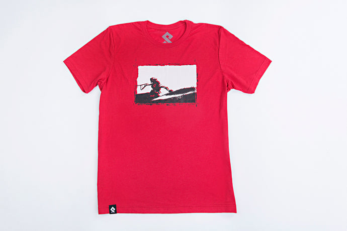 PULLSPORT RIDE TEE - RED Wakeboard Waterski Watersport Apparel