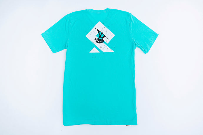 PULLSPORT WAKE LOGO TEE - SEA GREEN Wakeboard Watersport Apparel