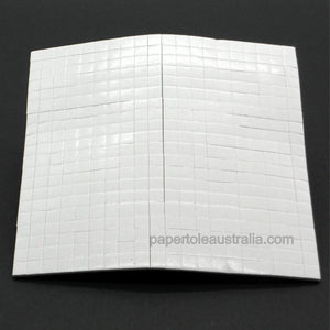 3D Foam Squares 3mm White