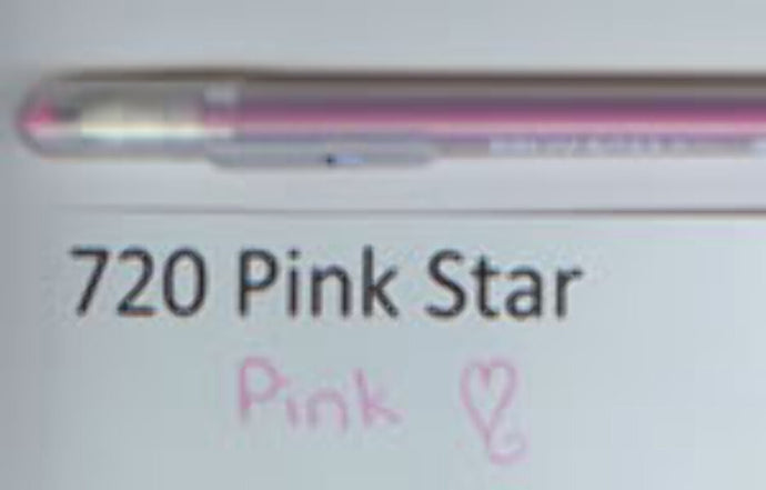 720 Gelly Roll Pink Star