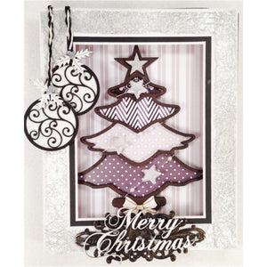Silver Christmas Shadow Box (Kit #06)