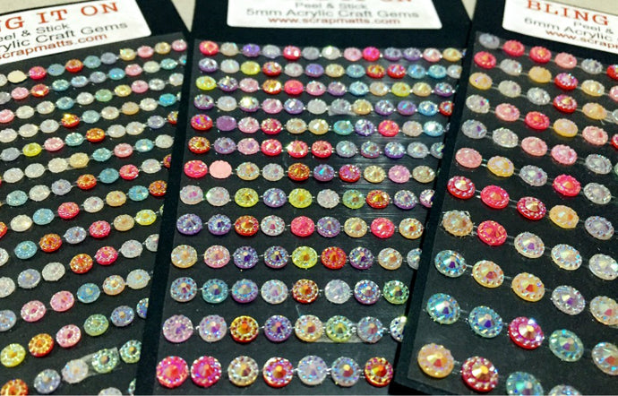 4,5 & 6mm Mixed Acrylic Craft Gems