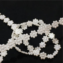 Load image into Gallery viewer, PB002- Ivory Flat Back Flower Pearl