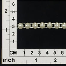 Load image into Gallery viewer, PB010- Ivory Flat Back Pearl Trim
