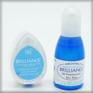 Pearlescent Sky Blue Brilliance Dew Drop Ink