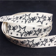 Load image into Gallery viewer, RB004 Black Stars Ribbon