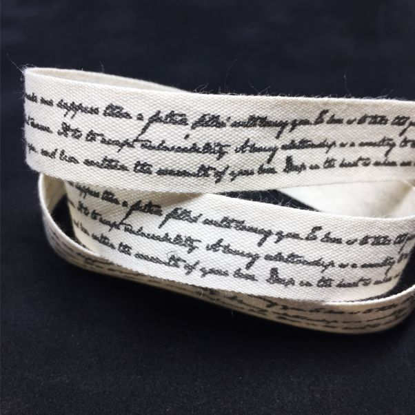 RB015 Black Script Ribbon