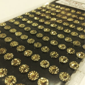 6mm Gold Sparkle Acrylic Craft Gems