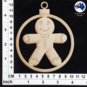 WS1017 Bauble with Gingerbread Man
